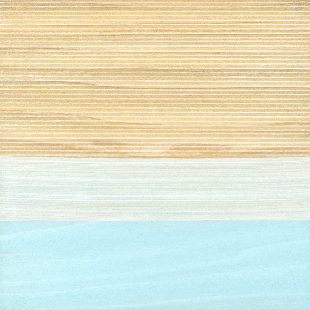 "Home  Gouache / Charcoal / Aquarel / Wood 9"" x 9""   x 1"" 2007"