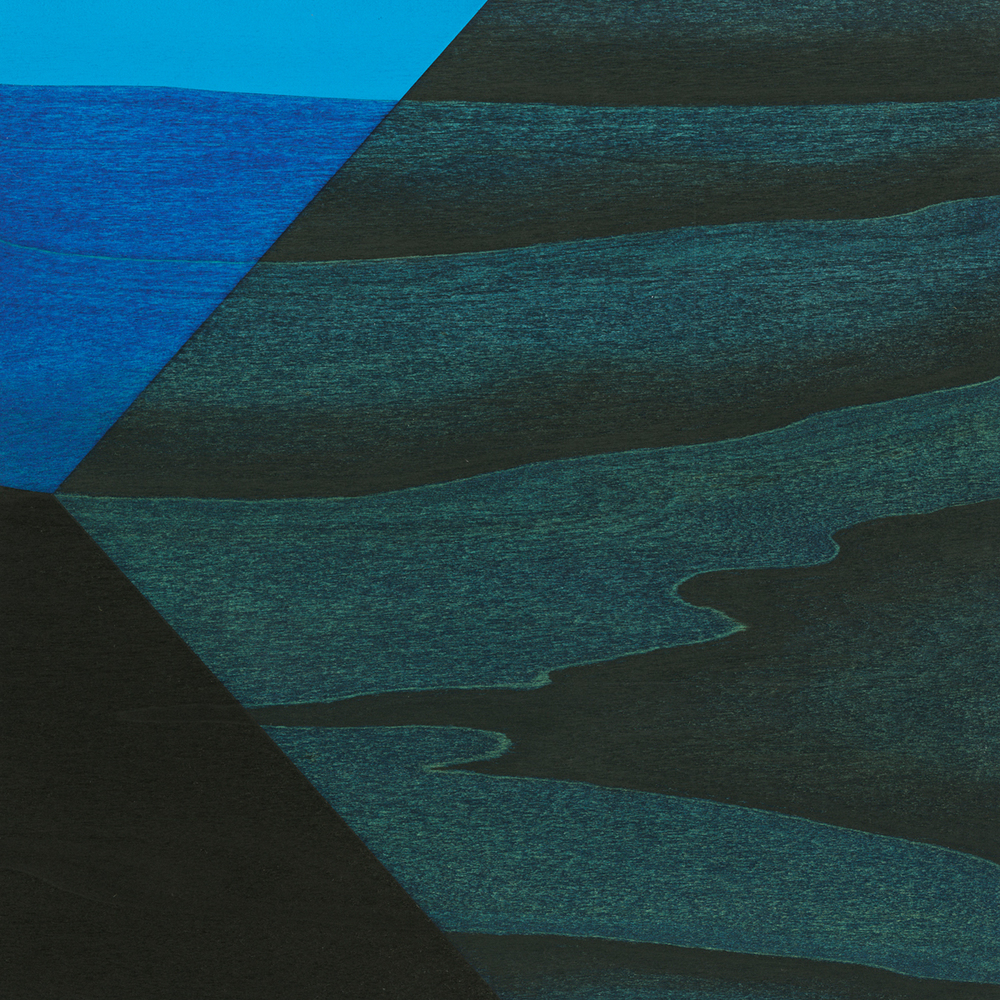 "Dwelling  Gouache / Ink / Charcoal / Wood   8"" x 8"" x 1""   2010"