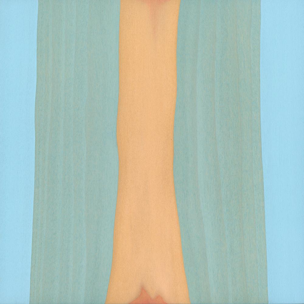 "Radha  Gouache / Aquarel / Wood   9"" x 9"" x 1""  2 011"