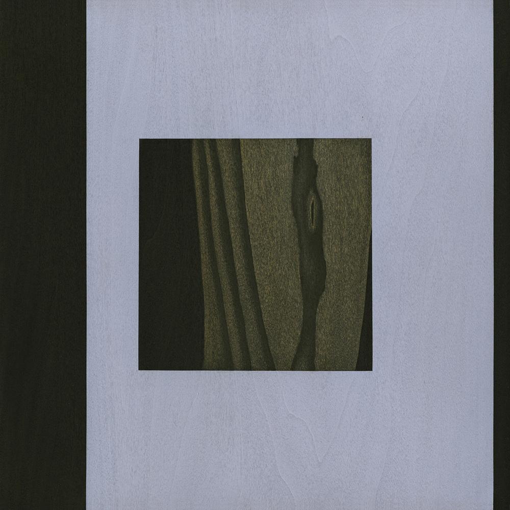 "Ascent  Gouache / Ink / Charcoal / Wood 11"" x 11"" x 1"" 2012"