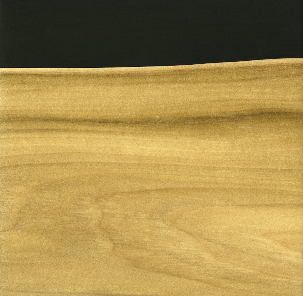"Glossolalia (Prototype #3)  Gesso/Lacquer/Wood 9 ⅞"" x 9 ⅞"" x 1"" 2017"