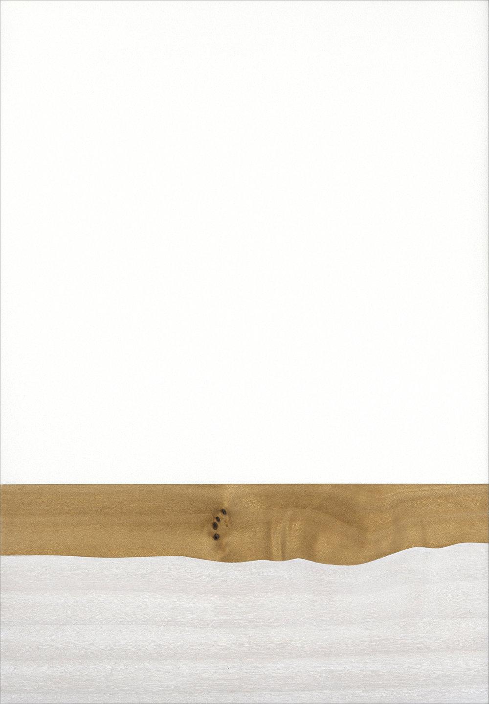 """Shroud  Gesso/Lacquer/Wood 5 ½"""" x 8"""" x 1"""" 2017"""