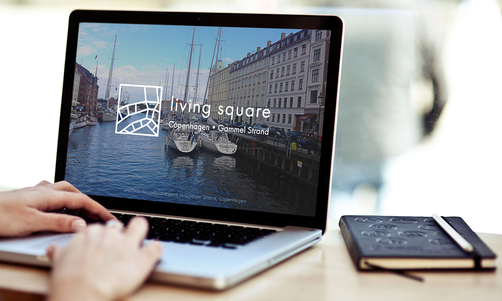 living square website / laptop version