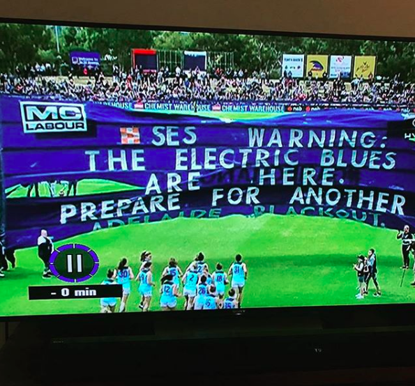 AFLW vs. Adelaide - The weather almost destroyed this one.