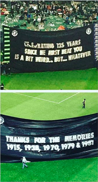 Both Sides - This banner combo made Danny McGinlay's best banners of 2017 segment during the AFL Grand Final telecast.