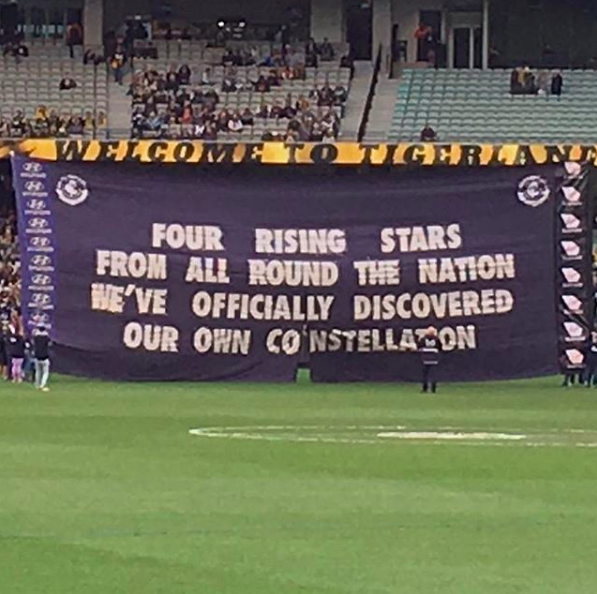 2017 vs. Richmond - The second time we played Richmond in 2017 I wasn't allowed to say anything due to 'Dusty-gate', but we had just won our fourth Rising Star Award for the year so this was a nice way to recognise it.