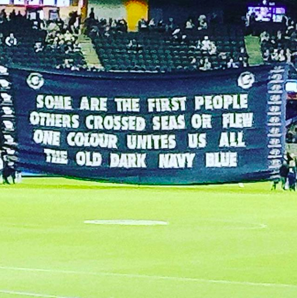 2017 Multicultural Round - Nice, simple but important message for our Multicultural Round game against the Cats.