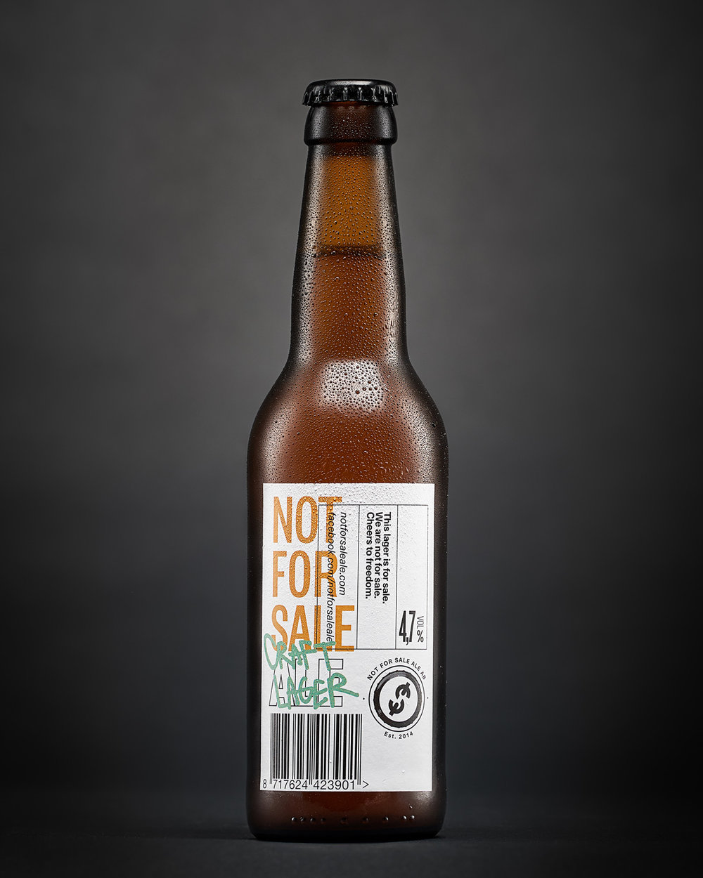 Så här blev den färdiga bilden av Not For Sale Ale Craft Lager.