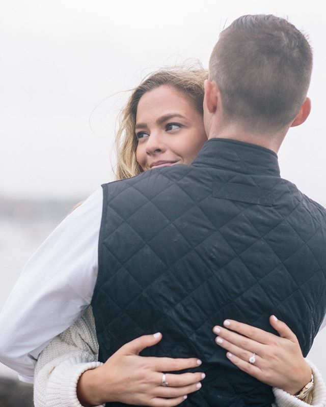 Not sure if this is a preview from Brigid and Michael's stormy beachside engagement session or a Ralph Lauren ad? 🙌🙌