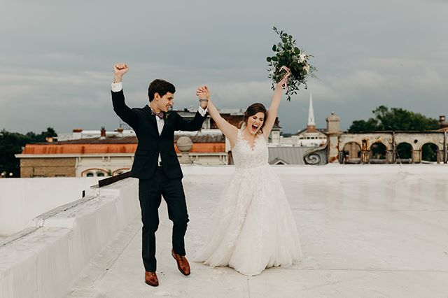 Swipe to see some true celebration of officially becoming husband and wife moments before this 💫 You could literally feel the joy on this rooftop even with the rain rolling in. Becca and Caleb, it was a blessing to be such a special part of this day. I love your story and documenting the Lord's goodness in this day💫