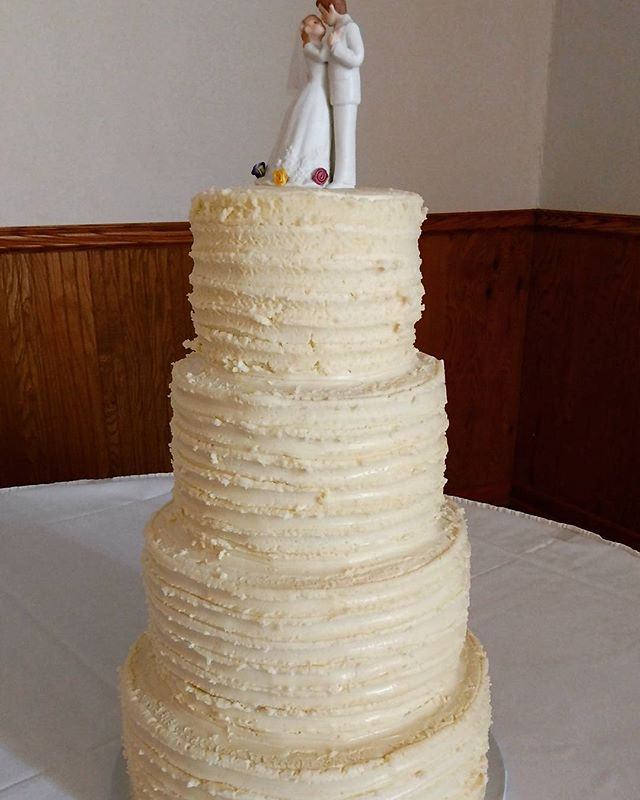 Our first 4 tier wedding cake. #glutenfree #dairyfree #eggfree #yfetbakery #vegan #wedding #cake