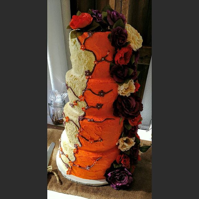 A very creative wedding cake.  #yfetbakery #dairyfree #eggfree #glutenfree #cake #indianapa #wedding  #vegan