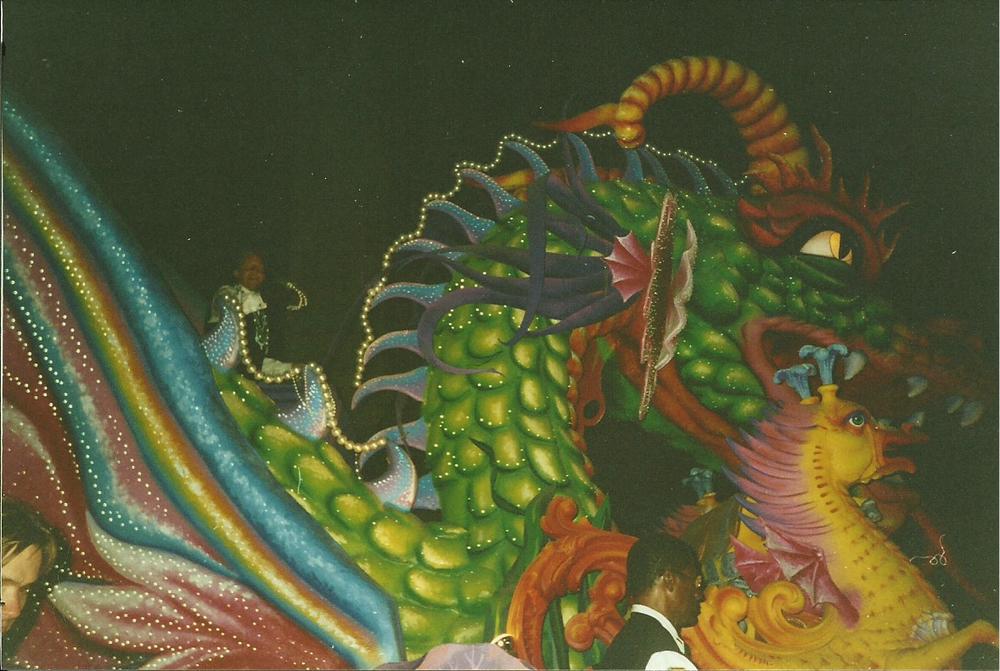 Dragon float at Mardi Gras