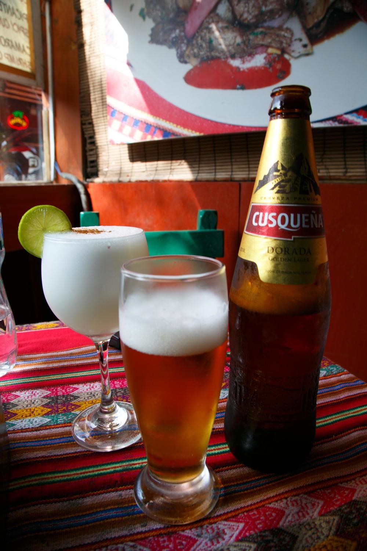 Pisco Sour & Julian's Massive Beer