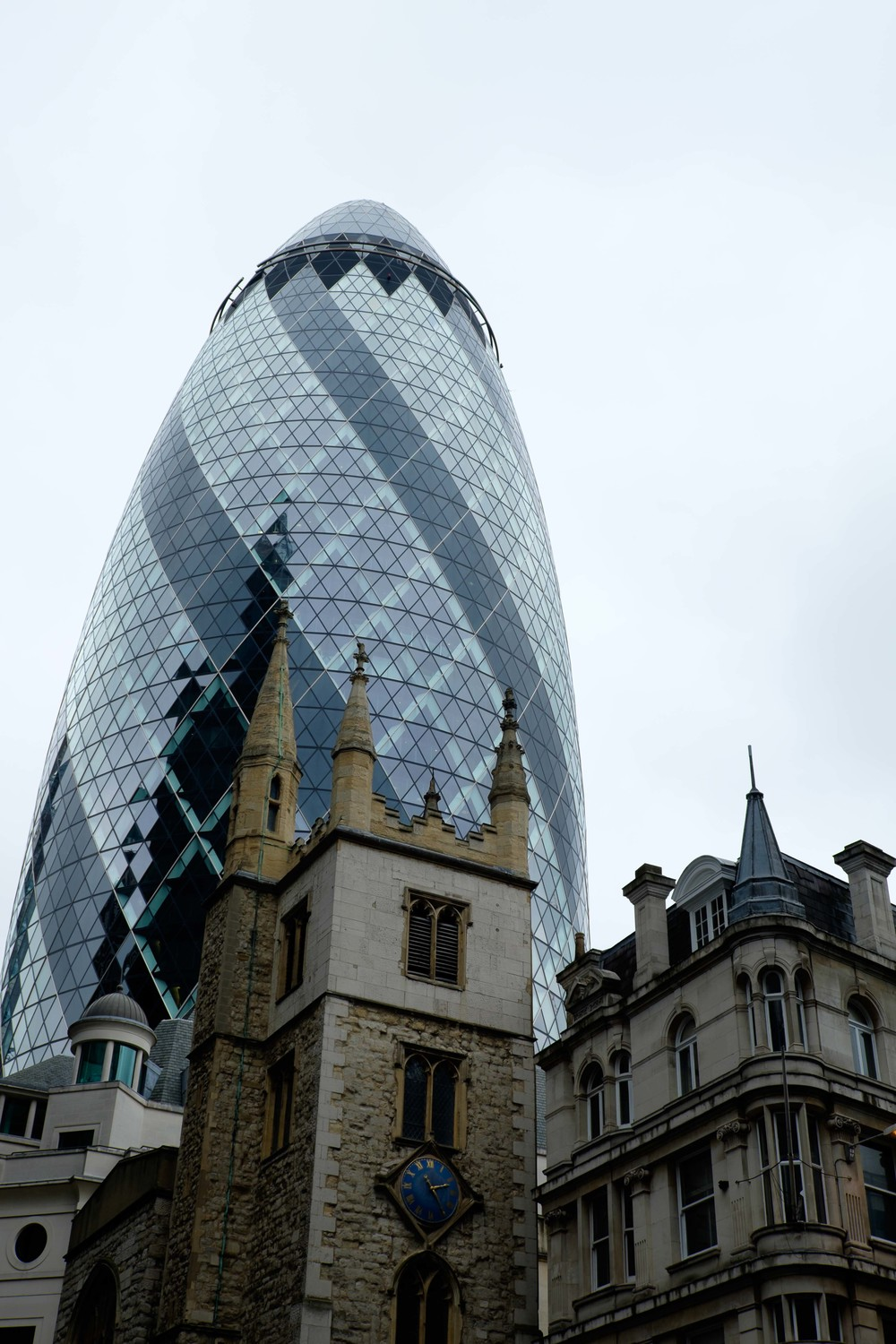 The Gherkin and St. Andrew Undershaft