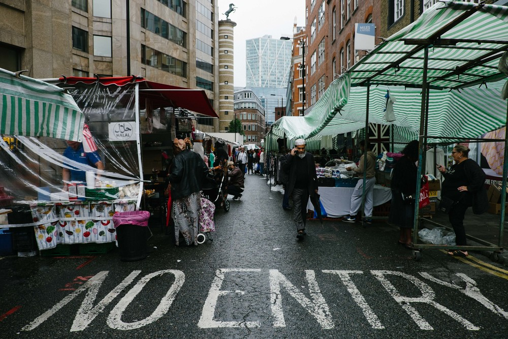 Street market at Sandy's Row