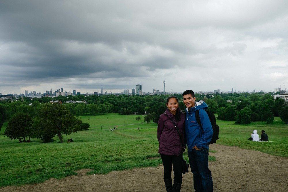 Primrose Hill with a panoramic view of London