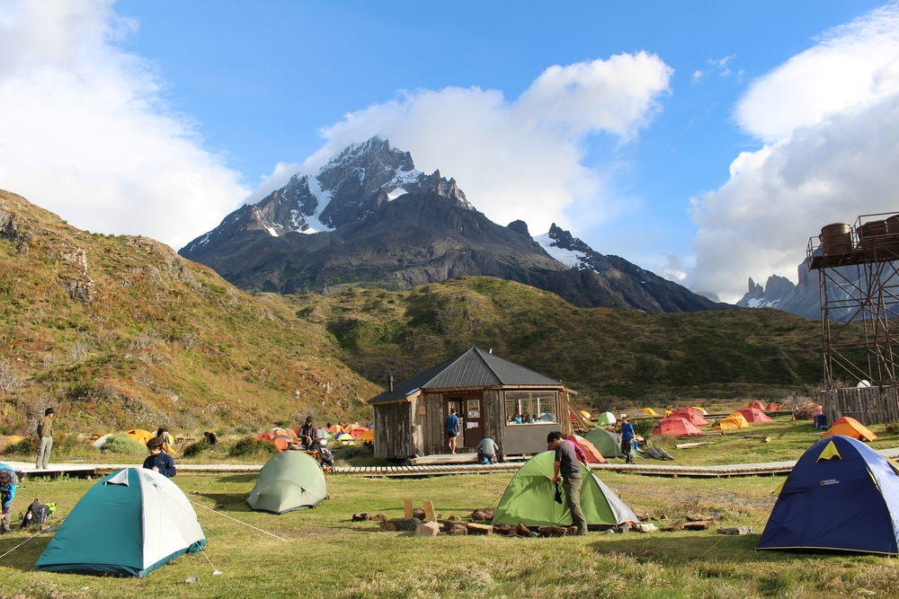 Camping at Paine Grande