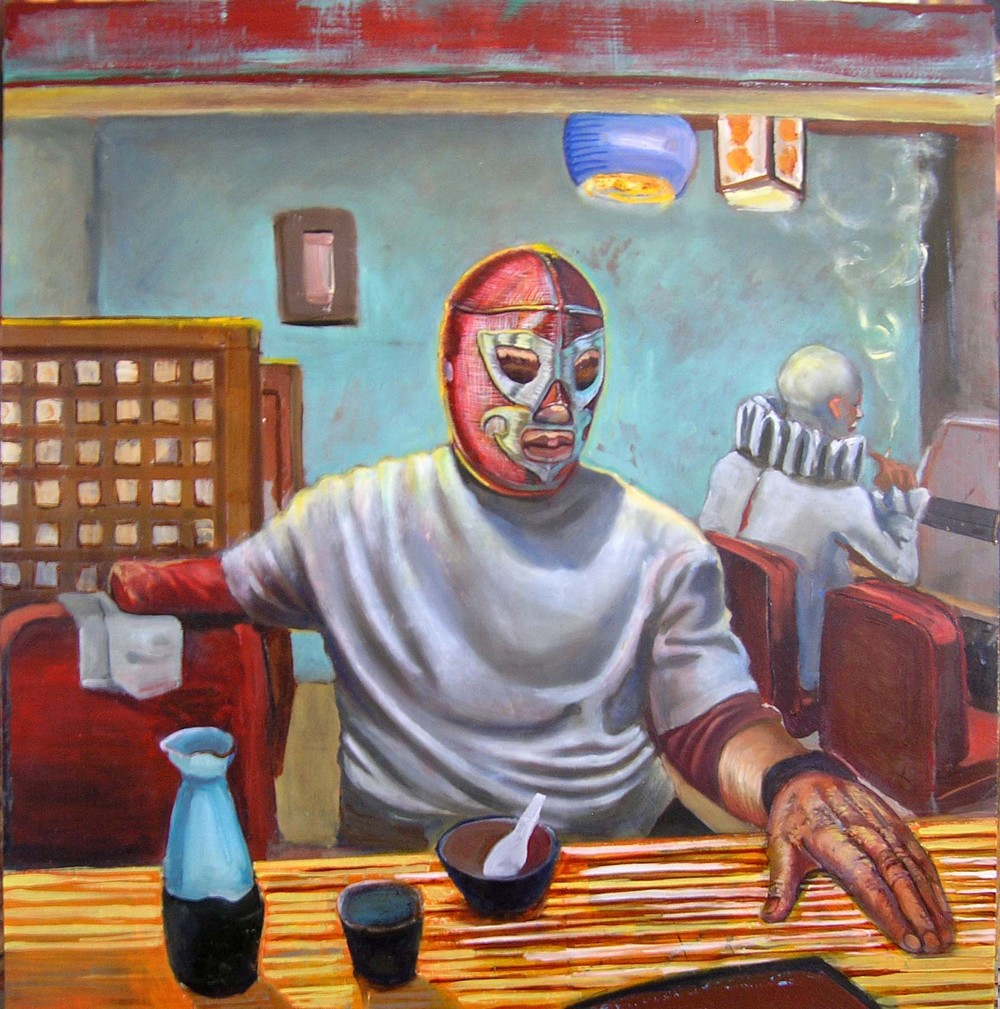 "Los Olvidados, 2013 Oil on panel 20""x 20.75"""