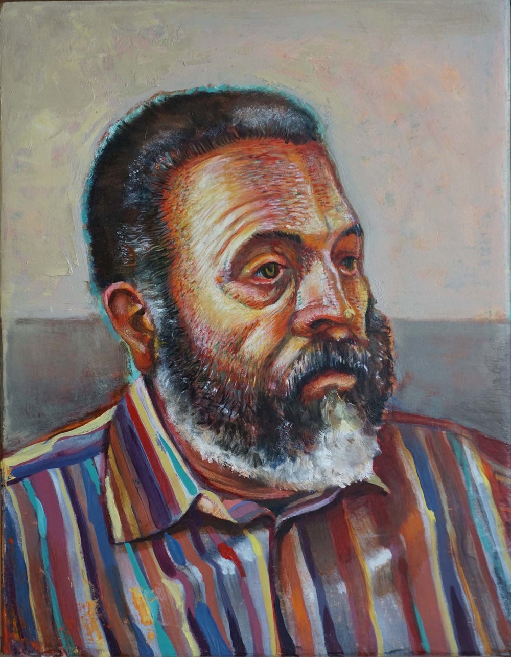 Portrait of Luis, Oil mix media, 2013