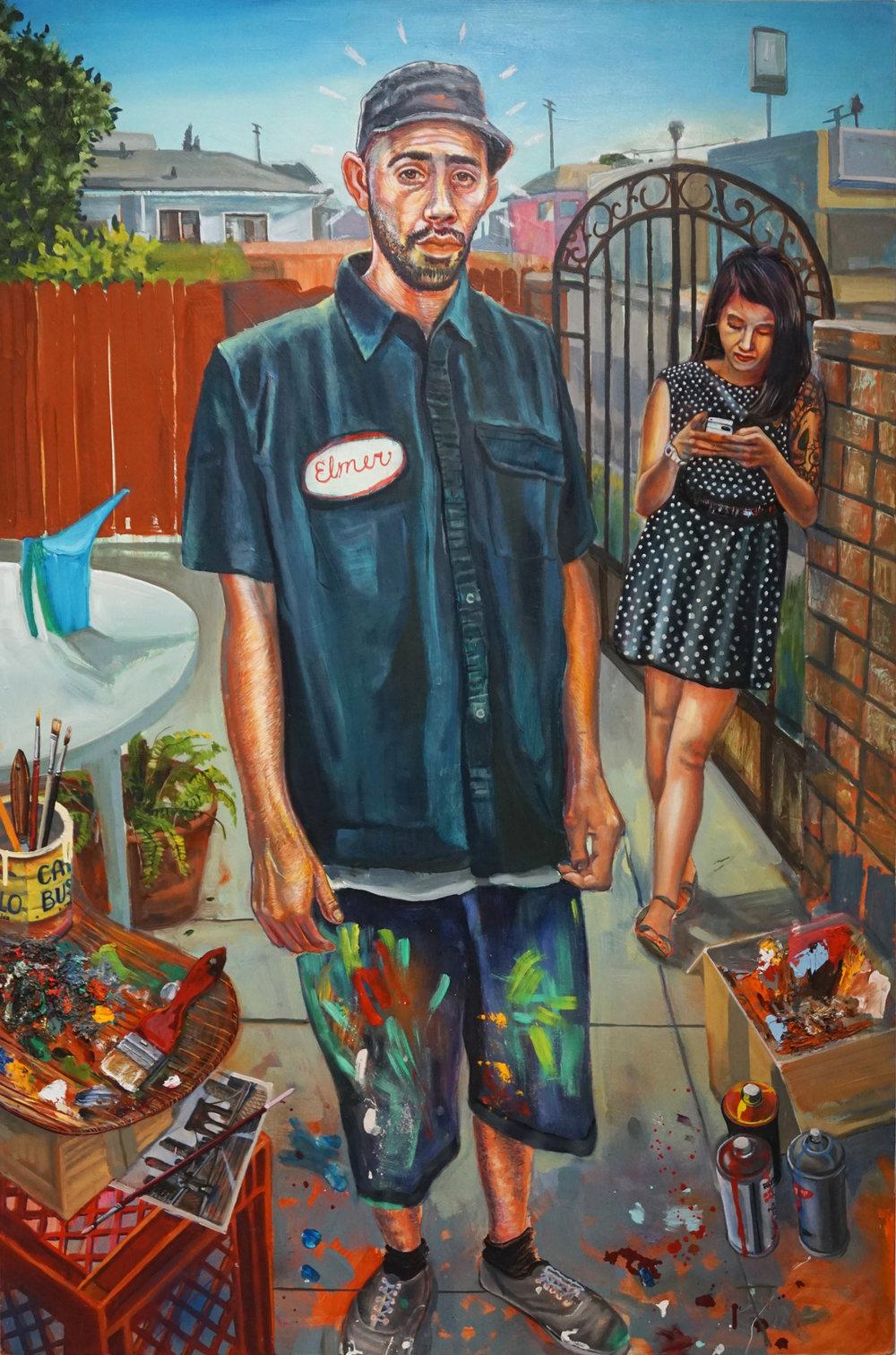 """""""Young Artist"""" 2014 mix-media, 36""""x 54"""""""