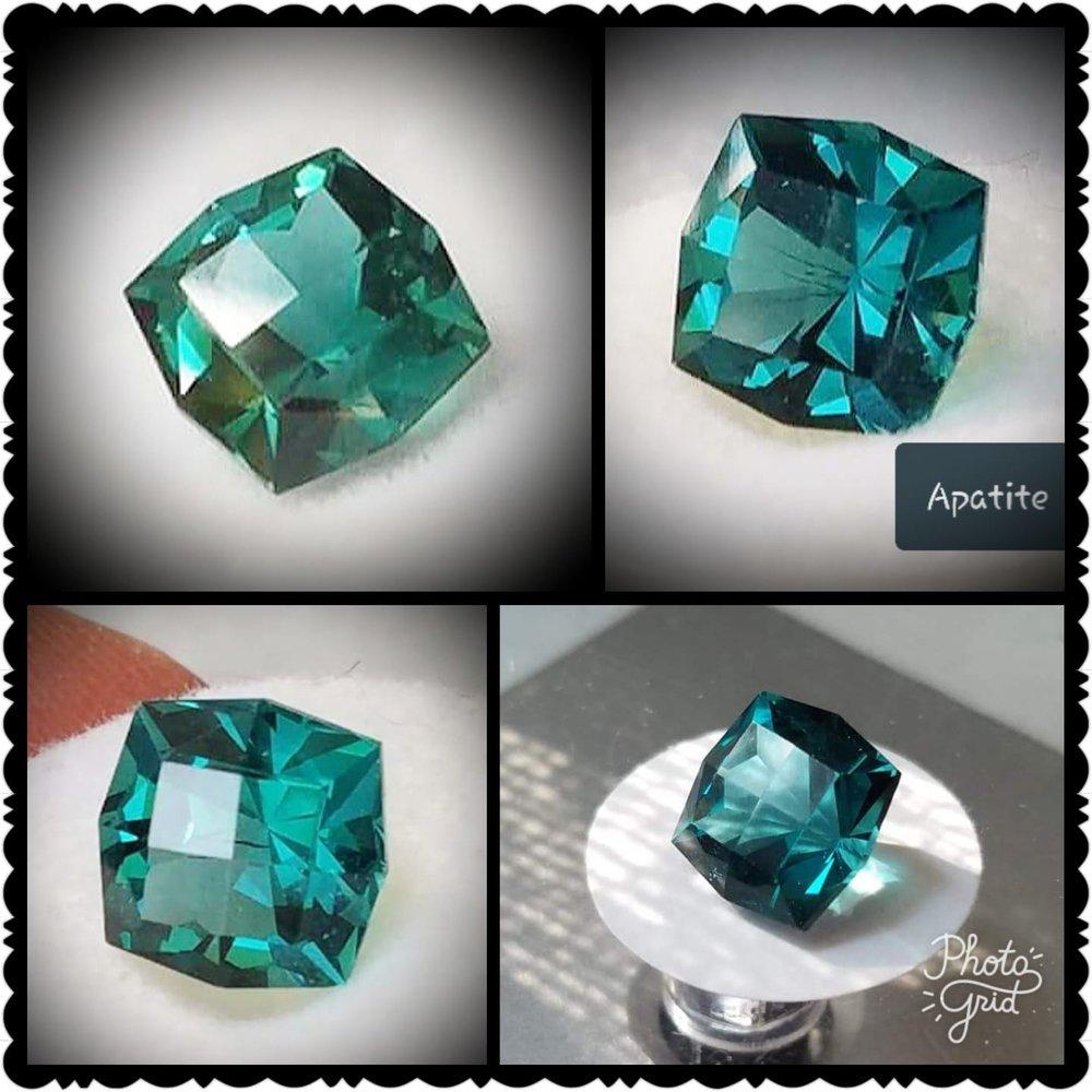 Blue Green Apatite - Checkertop Old Mine
