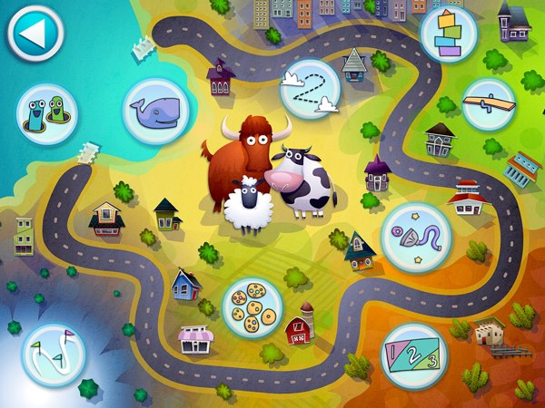 Drive Around: Number Neighborhood encourages kids to explore town and play with math-themed games