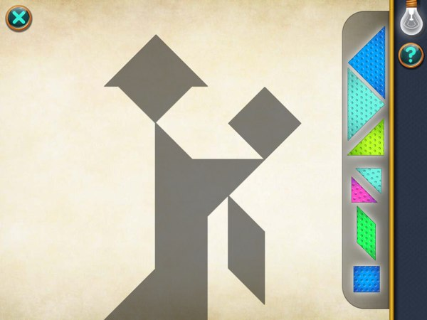 Learn geometry by solving tangram puzzles and creating your own puzzles