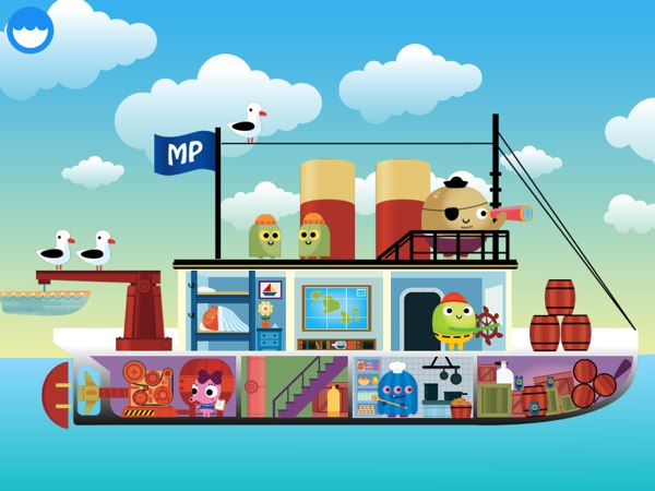 BEST NATURE EXPLORATION APP: Kids can learn about the parts of a ship as they explore and build jigsaw puzzles