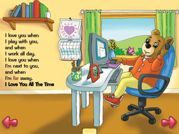 BEST BEDTIME STORYBOOK: I Love You All The Time is about parents' unconditional love for their children.