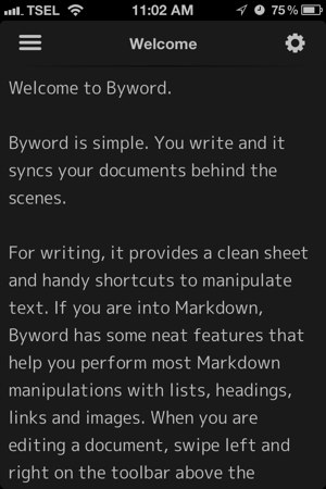 Byword 1.1 for iOS review - New Dark Theme added, along with minor UI improvements