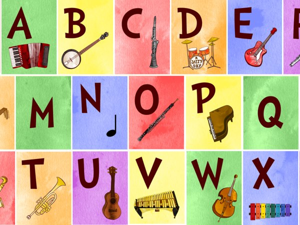Jazzy ABC is a fun way for learning about musical instruments and ABCs