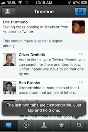 Netbot for iPhone Review - Netbot is indeed Tweetbot's little brother. You can't tell the difference between the two just from their looks.