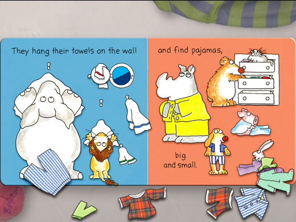 The Going to Bed Book is an adorable storybook app that mimics the look of a traditional board book.