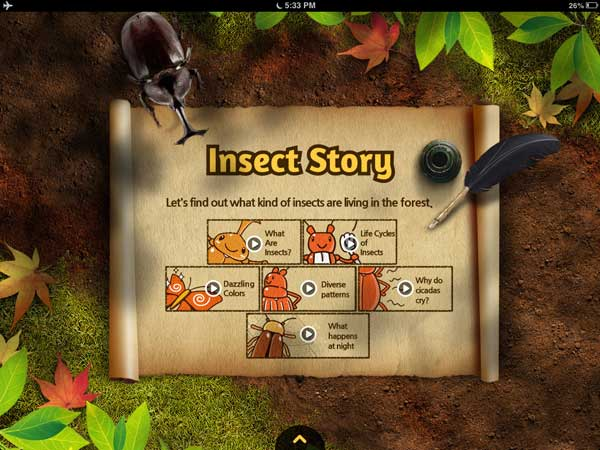 Meet the Insects: Forest Edition review - A beautiful app for learning about insects.
