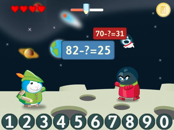 Bugsy in Math Kingdom is a fun math apps for kids.