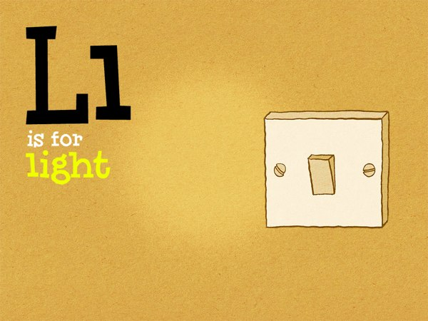 One of the many objects introduced in the book is Light, which represents the letter L.