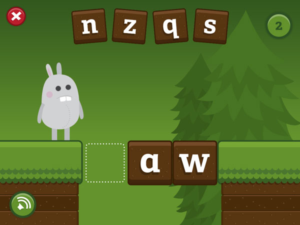Help Gappy fix the bridge by choosing the correct letter.