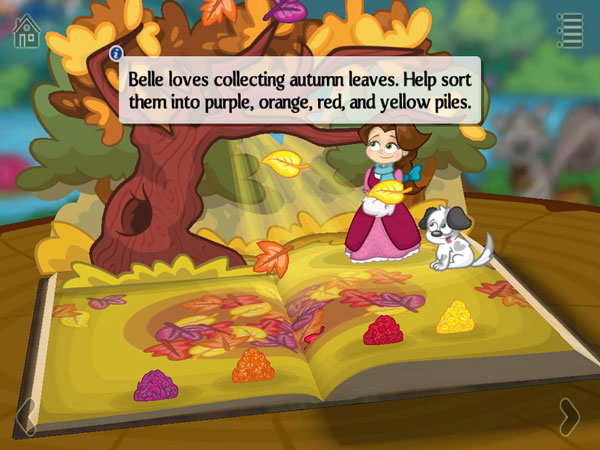Help Belle collect the leaves.