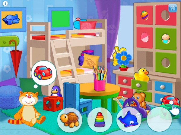 Playroom - Lessons with Max is a fun activity app for toddlers and preschoolers