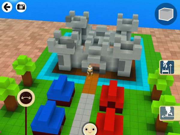 Toca Builders is a terrific, Minecraft-like construction toy for juniors.  Here we have A castle made with Toca Builders.