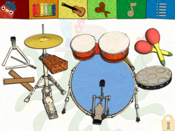 Tap on the drum set to follow along the rhythm