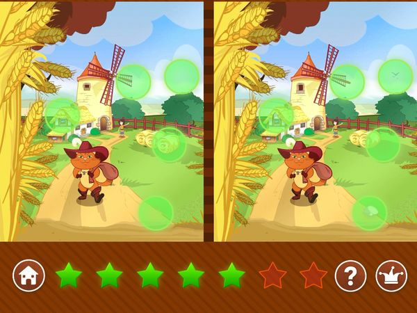 Find all the seven differences in this illustration of Puss in Boots.