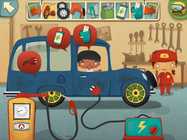 my little work garage is a fun game where kids can play to manage their garage