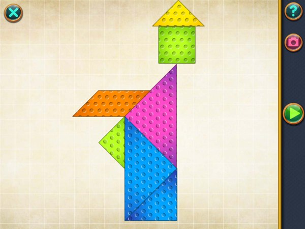 Learn Geometry by Solving Tangram Puzzles in Shape Arts