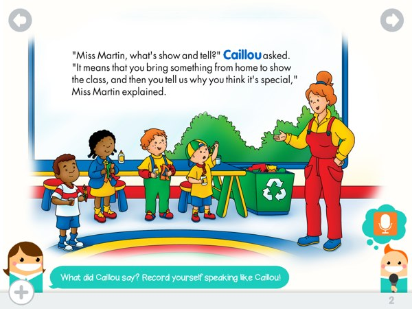 Caillou: Show and Tell Offers A Rich Reading Experience ...