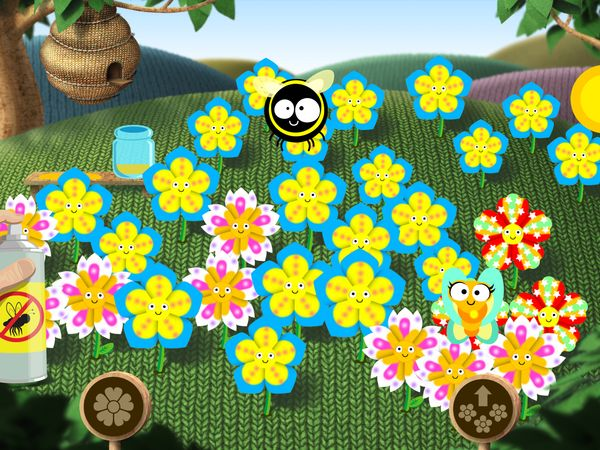 Kids create new flower species and help bees collect nectar in Gro Flowers