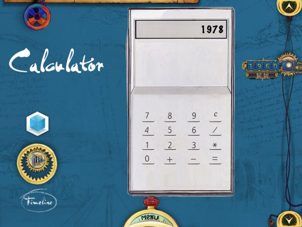 Gadgetarium features 23 influential gadgets in mankind history, including this calculator. The app even includes a working one that kids can play with.
