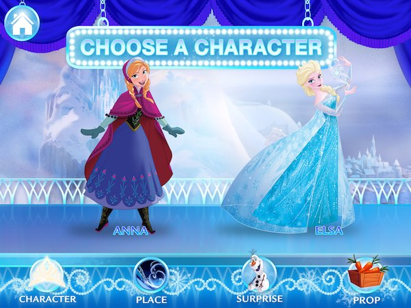 Frozen: Story Theater lets you create your own animated spin-offs of the popular movie