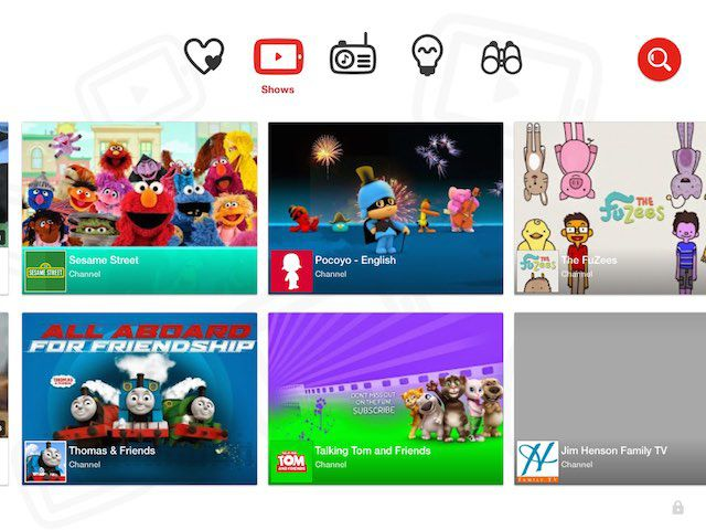 YouTube Kids app curates and filters age-appropriate content for kids.